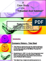 "A Case Study On  Acquisition  ""Tatasteel And Natsteel"""