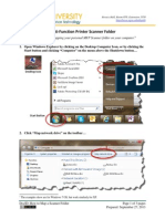 How to Map a Scanner Folder