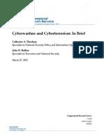 Cyberwarfare and Cyberterrorism