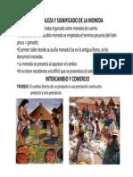 NATURALEZA Y SIGNIFICADO DE LA MONEDA