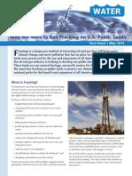 Why We Need to Ban Fracking on U.S. Public Lands