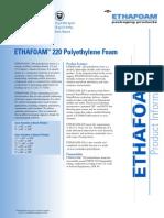 ethafoam-220 data sheet