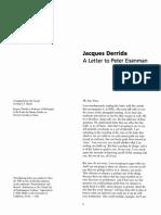 Derrida, J - Letter to Peter Eisenman, (1990) 12 Assemblage 6