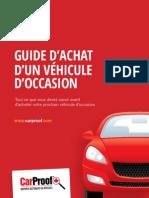 Carproof Guide Dachat d'Un Vehicule d'Occasion