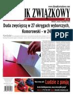 Dziennik Związkowy 2015 May 12
