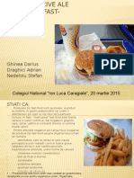Efectele Nocive Ale Mancarii Tip Fast-food.