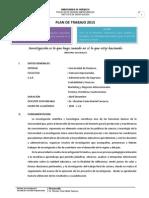 Plan de Investigación Formativa 2015 (Facultad de Ciencias Empresariales)