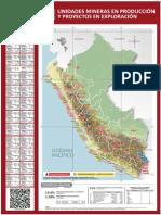 Mapa Unidades Mineras Perú 2012