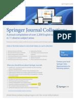 Springer Journals Info Flyer