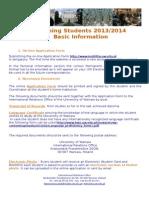Erasmus Mundus Application Information 2013-2014