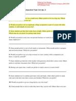 TOEFL iBT Speaking Independent Topic List[1]