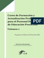 Curso de formación y actualización profesional docente de educación preescolar - Volúmen2