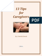 13 Tips for Caregivers