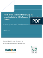 HEAT Health Effects Assessment Tool Guide for HIA in Resource Development Projects - HHIC ERM - 2010