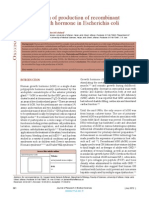 Optimization of Production of Recombinantahuman Growth Hormone in Escherichia Coli (1)