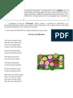 Global de Língua Portuguesa I Trimestre