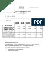 Proyecto de Presupuesto 2009 AnÁlisis Sector Cultura