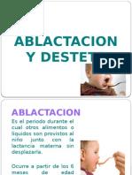 Ablactacion y Destete
