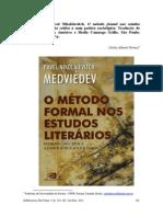 Resenha Faraco - Livro Medviédev