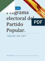 Programa Electoral PP Canet Castellano