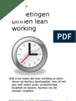 Tijdmetingen Lean Working (W2)