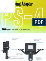 Nikon PS-4 Slide Copying Instruction Manual