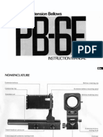 Nikon PB-6E Extension Bellow Instruction Manual