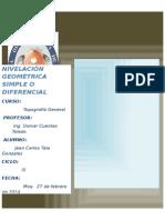 Informe de Nivelacion Simple Compuesta