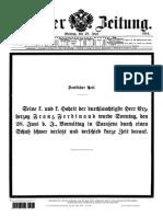WIENER ZEITUNG 19140629 Franz Ferdinand Murdered