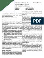 Principles of Survey Research