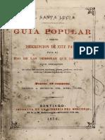 El Santa Lucía. Guia Popular. Breve Descripción de Este Paseo Para El Uso de Las Personas Que Lo Visiten, Con Indicación....... (1874)