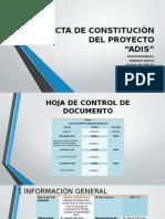 Acta de Constituciòn Del Proyecto