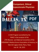 UERMMMC Dallas  Alumni Convention & Reunion 2015 CME Brochure