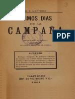 Últimos Días de La Campaña de 1891. (1891)