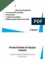 6.1 - Productividad de La Motoniveladora