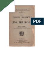 PRINCIPES BIOLOGIQUES DE L'ÉVOLUTION SOCIALE