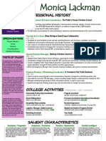 monica lackman, 1 page resume (chronological)