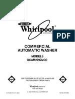 Whirlpool Modelo Gcam2792mq0