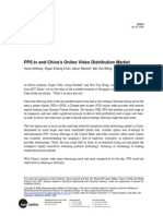 IB Case Study 2 - PPS.tv and China's Online Video Distribution Market