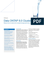 NetApp Data ONTAP 8.0 Cluster-Mode Data Sheet