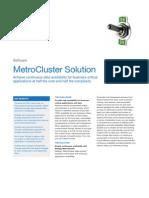 NetApp Metro Cluster Datasheet