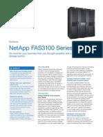 NetApp FAS3100 Family Datasheet