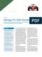 NetApp Fibre Channel SAN Datasheet