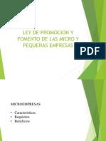 Ley de Promocion y Fomento de Las Mypes