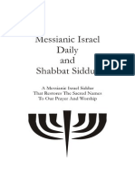 Natzarine Shabbat Siddur