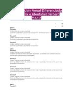 Planificación Anual Diferenciado Literatura e Identidad Tercero Medio