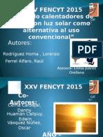 Creando Calentadores de Agua Con Luz Solar