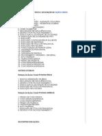 Tipos e Descrição de Ações Cíveis
