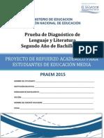 Prueba de Diagnóstico de Lenguaje y Literatura Segundo Año de Bachillerato - 2015