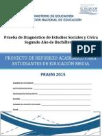 Prueba de Diagnóstico de Estudios Sociales Segundo Año de Bachillerato - 2015